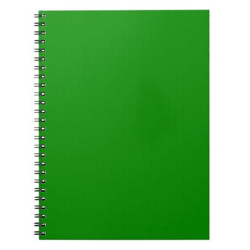 med green DIY custom background template Spiral Notebook