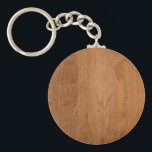 "Med-Lt Wood Grain Keychain<br><div class=""desc"">A light-medium blank faux wood grain. Add your design or text over it or leave it plain grain if you just love wood grains.</div>"