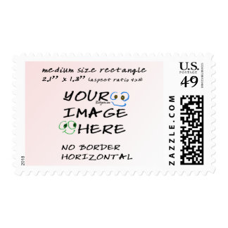 Med Make your own stamps- No Border Horizontal Postage Stamp