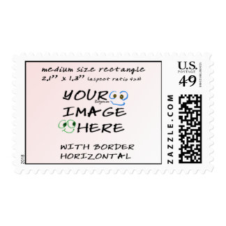 Med Make your own stamps RECT horizontal postage