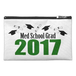 Med School Grad 2017 Caps And Diplomas (Green) Travel Accessory Bag