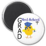 Med School Grad 2 Inch Round Magnet