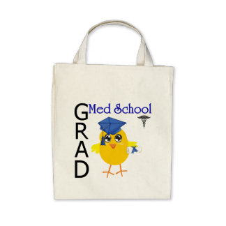 Med School Grad Canvas Bags
