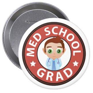 Med School Grad Button