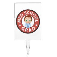 Med School Graduation Cake Topper