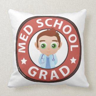Med School Grad Throw Pillow
