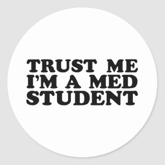 Med Student Classic Round Sticker