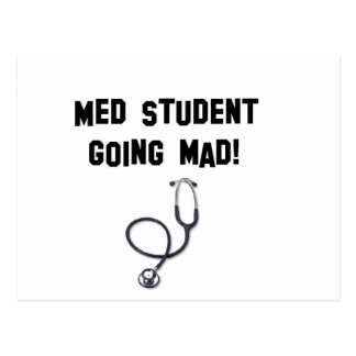 med student going mad postcard