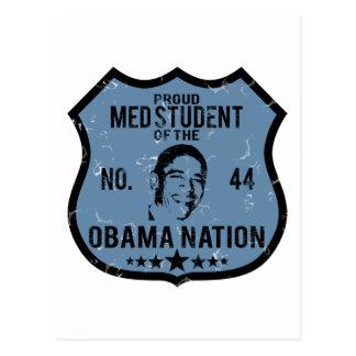 Med Student Obama Nation Postcard