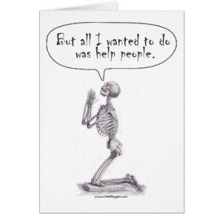 Med Student Skeleton Prayer Card