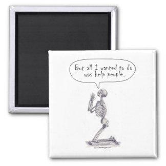Med Student Skeleton Prayer Refrigerator Magnet