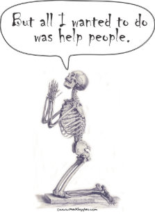 47ac4d2ad Med Student Skeleton Prayer Postcard