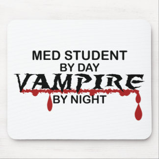 Med Student Vampire by Night Mouse Pad