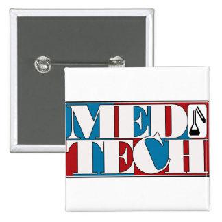 MED TECH LABORATORY BLOCK LOGO PINS