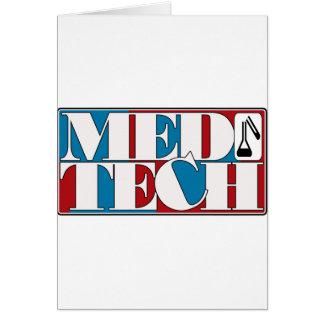 MED TECH LABORATORY BLOCK LOGO CARD