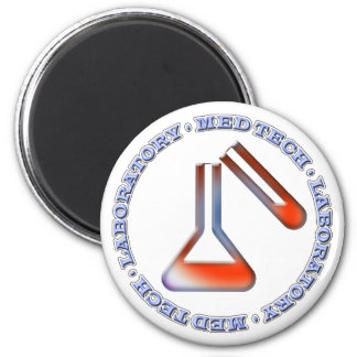 MED TECH - LABORATORY - FLASK  -TUBE - POSTCARD MAGNET