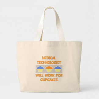 Med Technologist ... Will Work For Cupcakes Canvas Bag