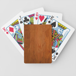 Med Wood Grain Bicycle Playing Cards