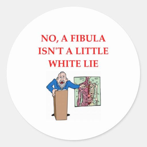 med xchool joke classic round sticker