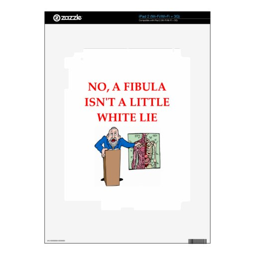 med xchool joke decals for iPad 2
