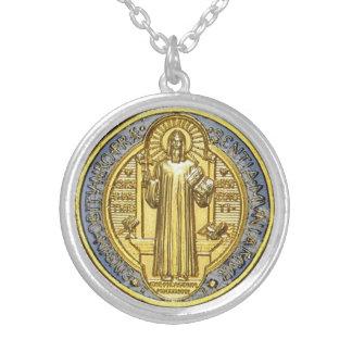 Médaille del benoit del St Collar Plateado