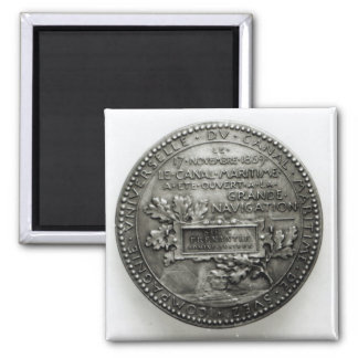 Medal commemorating the opening of the Suez Magnet
