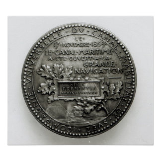Medal commemorating the opening of the Suez Poster