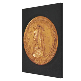 Medal depicting Anne of Brittany Canvas Print