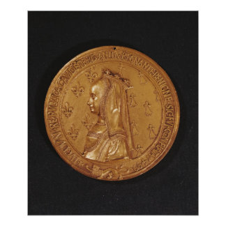 Medal depicting Anne of Brittany Posters
