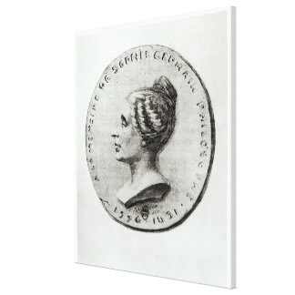 Medal depicting Sophie Germain Canvas Print