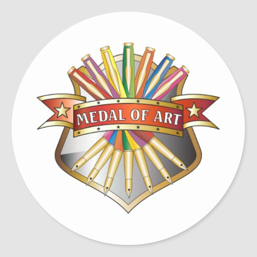 Medal of Art Medal Classic Round Sticker