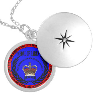 Medal OF PARENTS… fall Daughter Round Locket Necklace