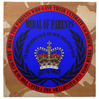 Medal OF PARENTS…. fall Son Napkin