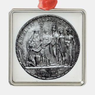 Medal struck by Pope Julius III Metal Ornament