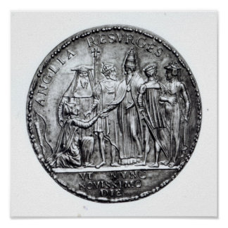 Medal struck by Pope Julius III Poster