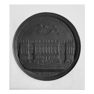 Medal with Bernini's design for the Louvre Poster