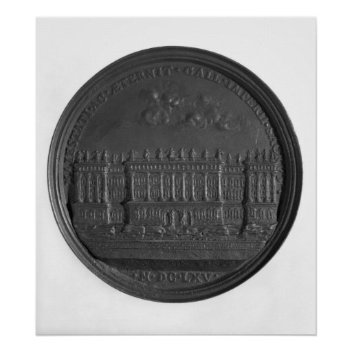 Medal with Bernini's design for the Louvre Print