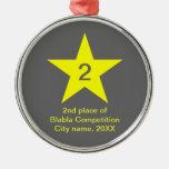 Medalla con la estrella amarilla - ornamentos adorno de navidad
