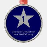 Medalla con la estrella - ornamentos adorno de navidad