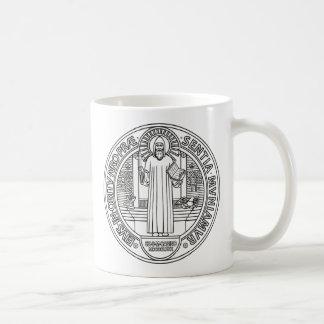 Medalla cruzada de San Benedicto ambos lados Taza