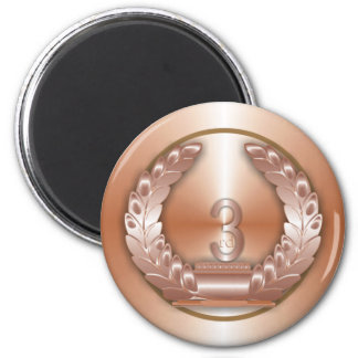 Medalla de bronce imán redondo 5 cm