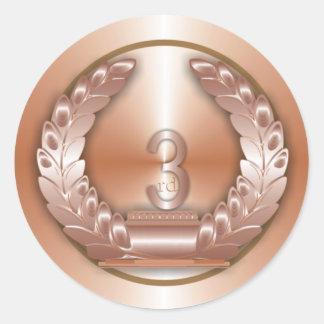 Medalla de bronce pegatina redonda