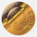 Medalla de bronce pegatinas