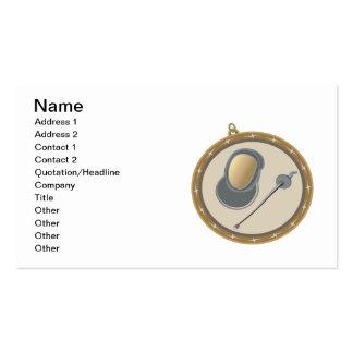 Medalla de cercado tarjetas de visita