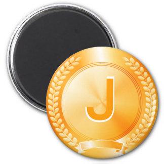 Medalla de honor del oro imán redondo 5 cm