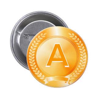 Medalla de honor del oro pin redondo de 2 pulgadas