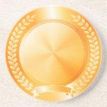 Medalla de honor del oro posavasos manualidades