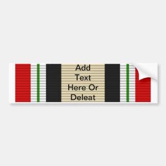 Medalla de la campaña de Iraq Pegatina Para Auto