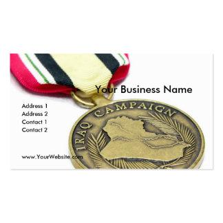 Medalla de la campaña de Iraq Tarjetas De Visita