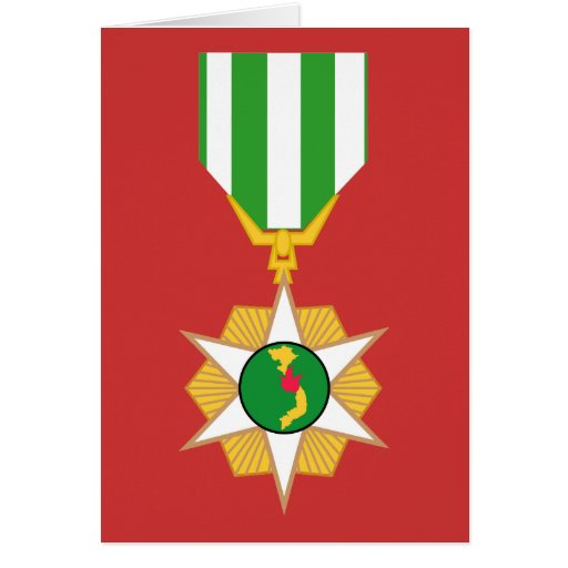 Medalla de la campaña de Vietnam Tarjeta